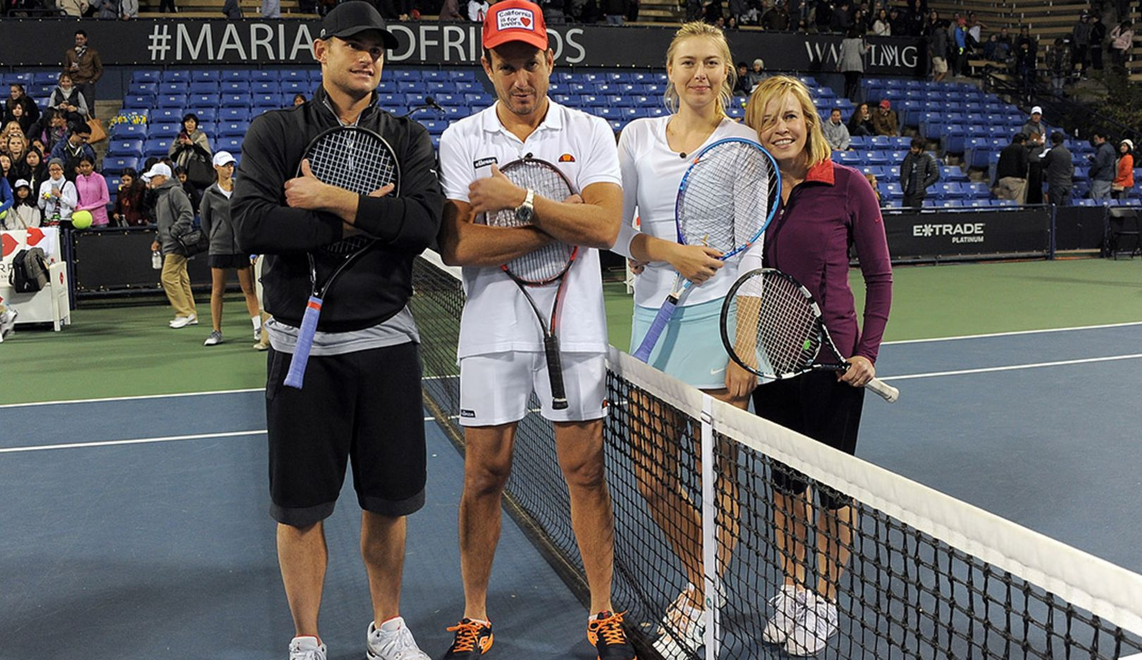 l-r Andy Roddick (USA), Will Arnett (Canada), Maria Sharapova, Chelsea Handler (USA), Maria Sharapova & Friends, Los Angeles, 2015, Porsche AG