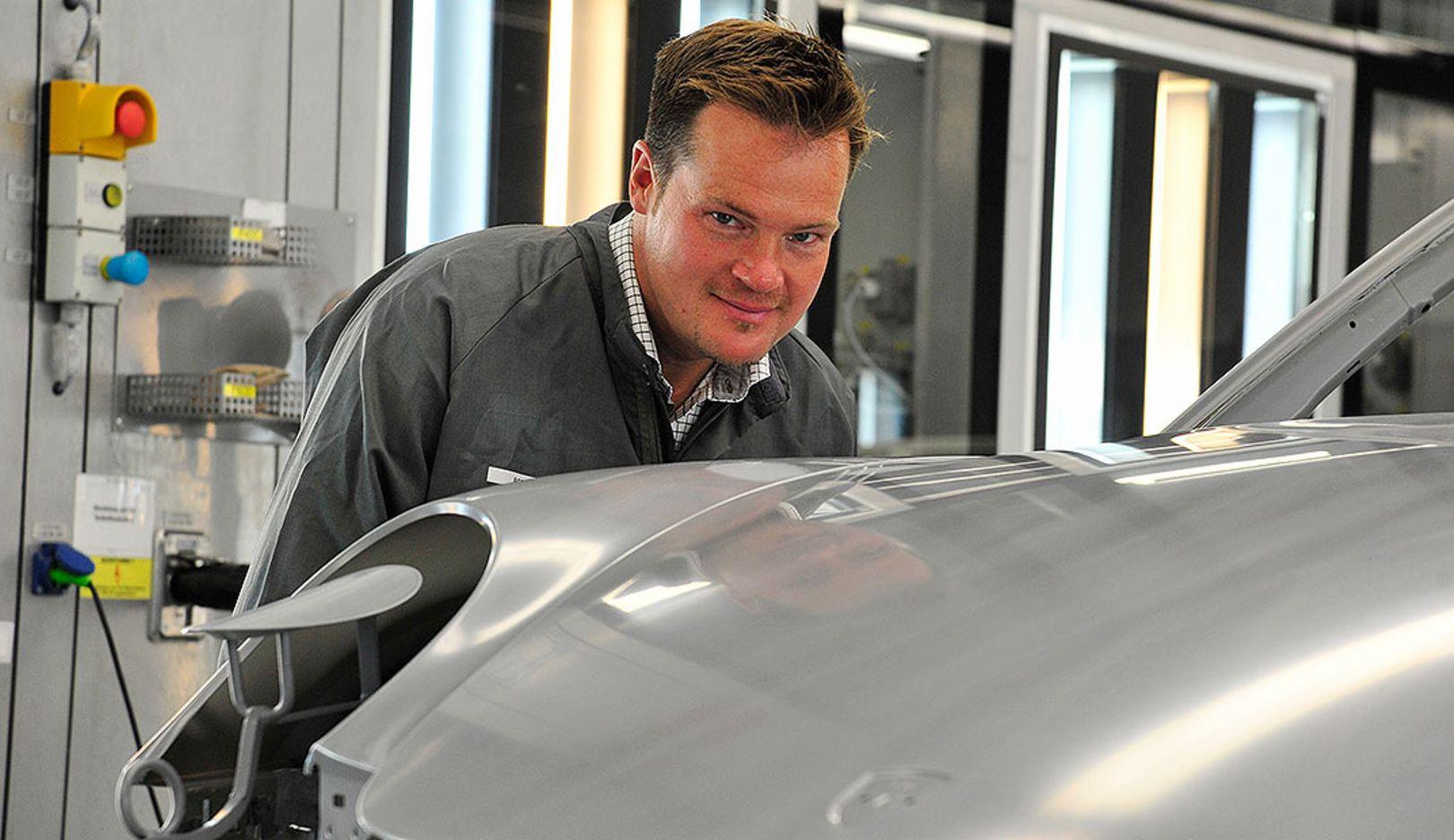Kunde, 911 Carrera 4S Cabriolet, Produktion, 2014, Porsche AG