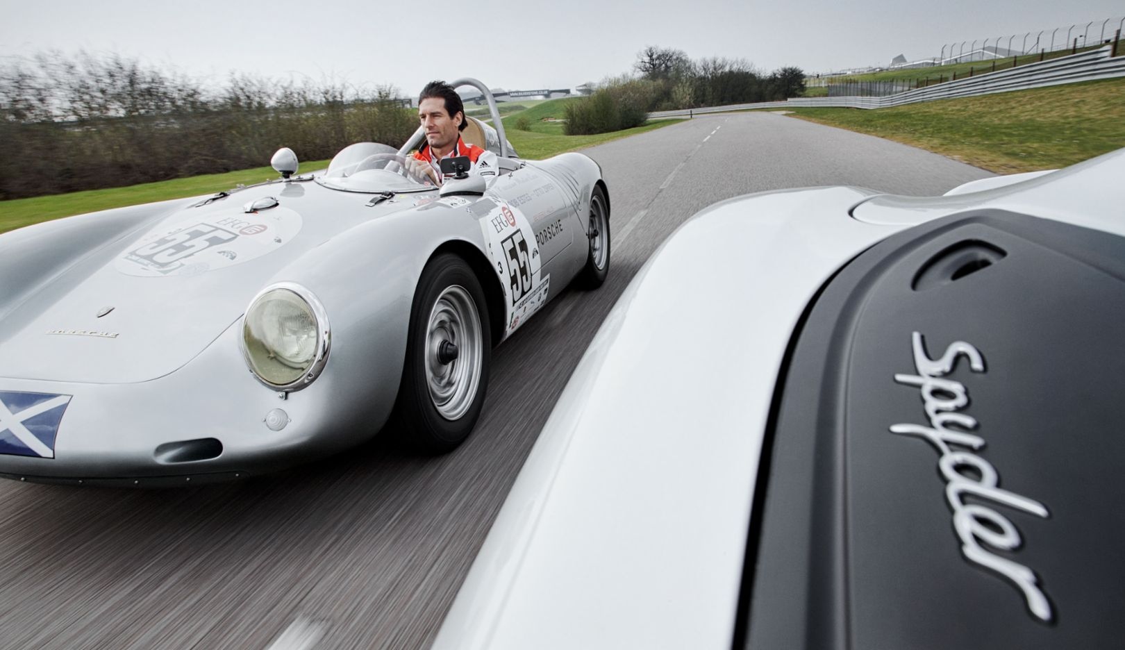 Mark Webber, Porsche 550 Spyder, Porsche Boxster Spyder, Porsche AG