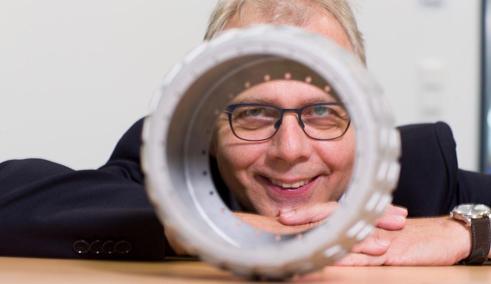 Henner Schöneborn, Technik-Vorstand des Herstellers SLM Solutions, 2018, Porsche AG