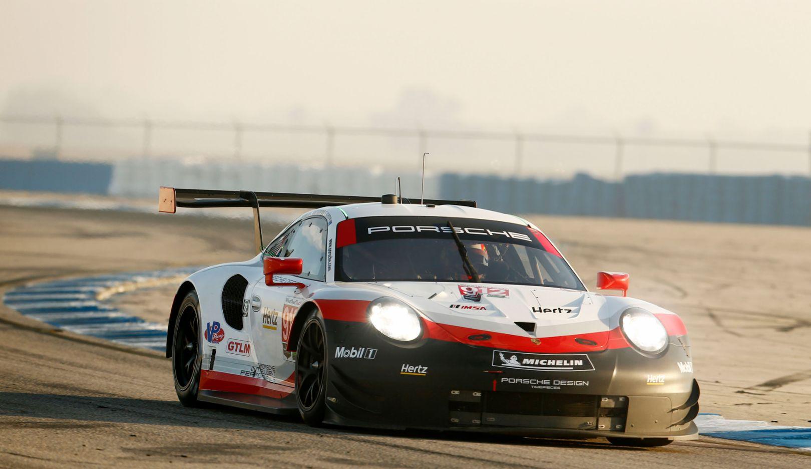 911 RSR, IMSA WeatherTech SportsCar Championship, round 2, 12 Hours of Sebring, USA, 2018, Porsche AG