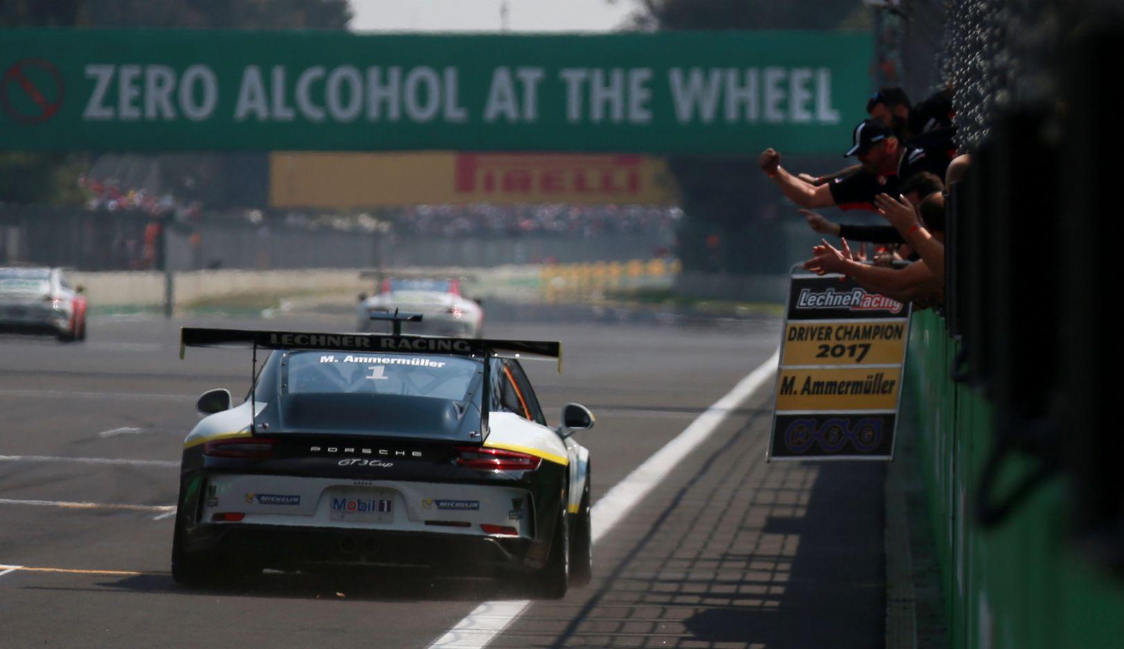 911 GT3 Cup, Porsche Mobil 1 Supercup, Race 11, Mexico, 2017, Porsche AG