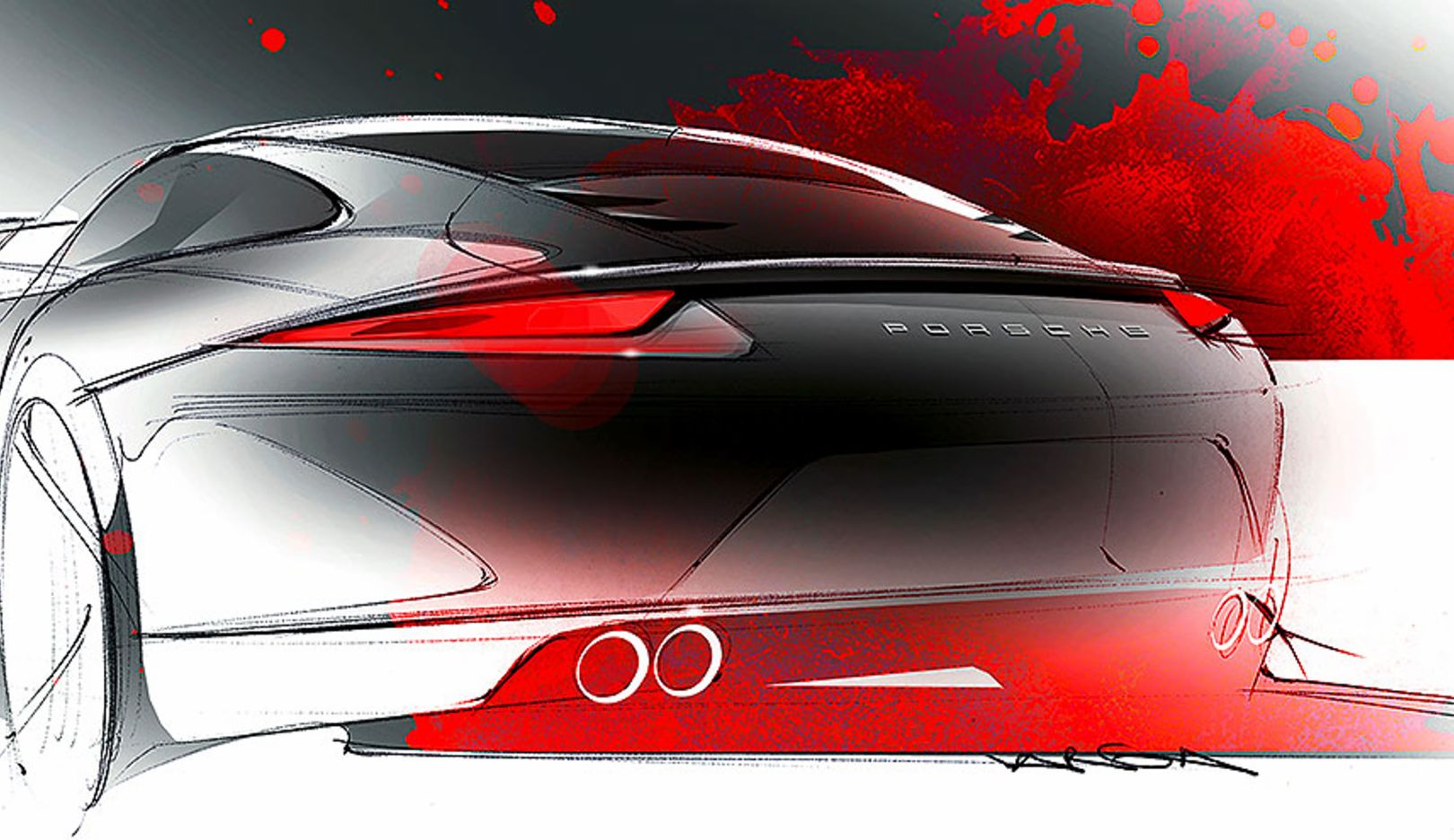 911 Carrera, design sketch, 2014, Porsche AG