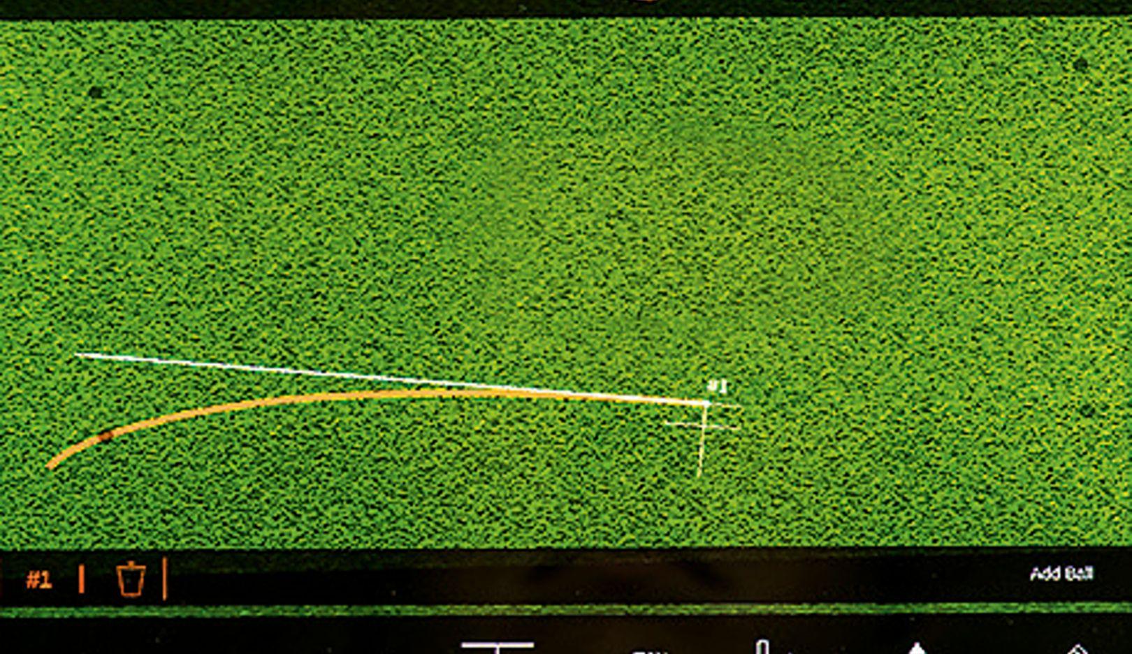 Puttview: el sistema muestra al jugador, que está provisto de unas gafas de realidad aumentada, la línea ideal del putt.