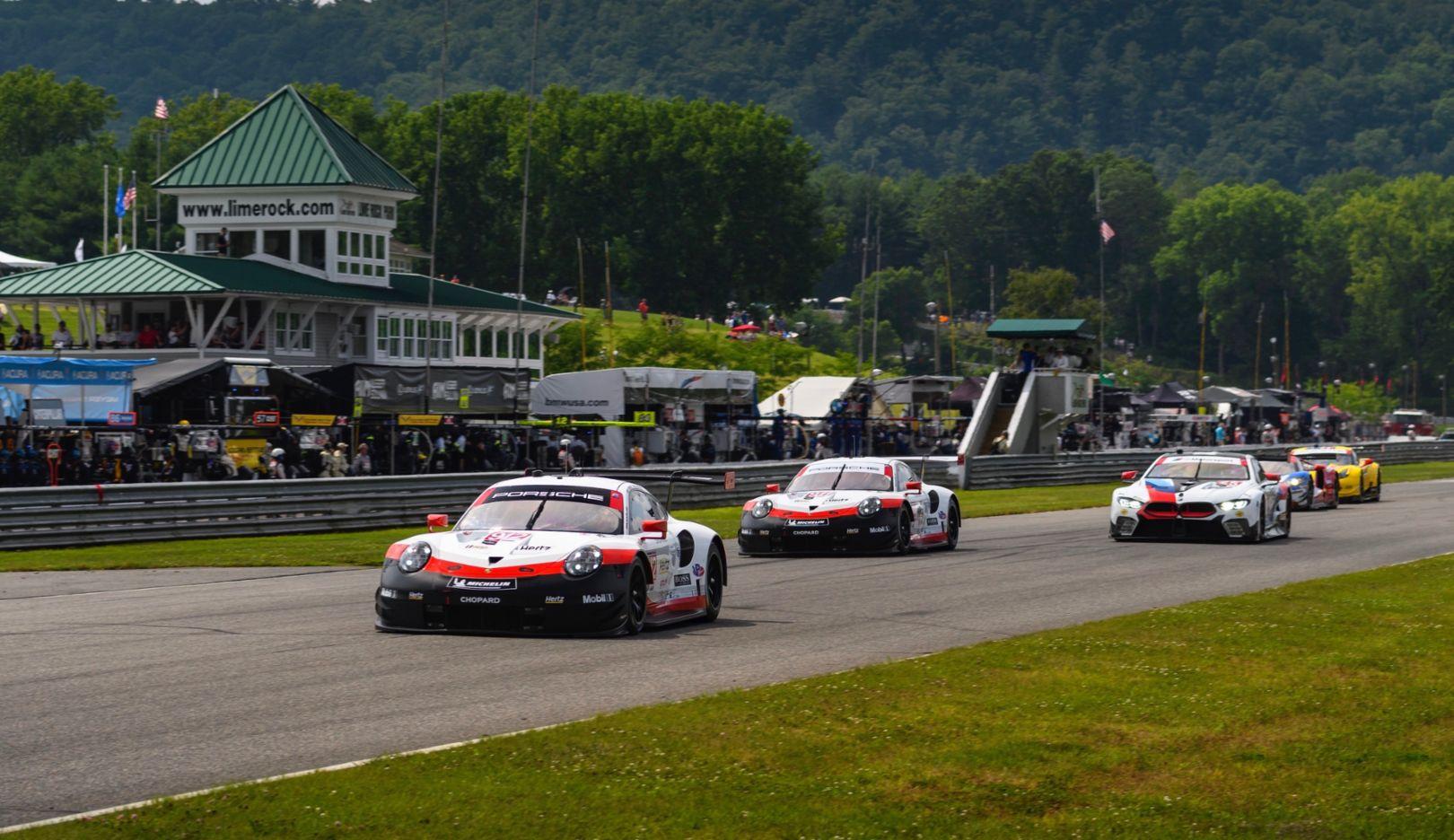 Imsa Victory For The Porsche 911 Gt3 R Porsche Gt Team On The Podium