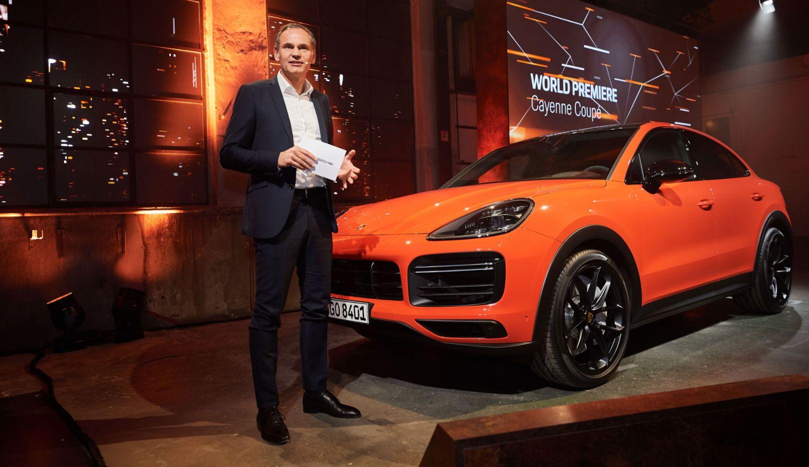 Oliver Blume, Chairman of the Executive Board of Porsche AG, world premiere of the new Porsche Cayenne Coupé, Stuttgart, 2019, Porsche AG