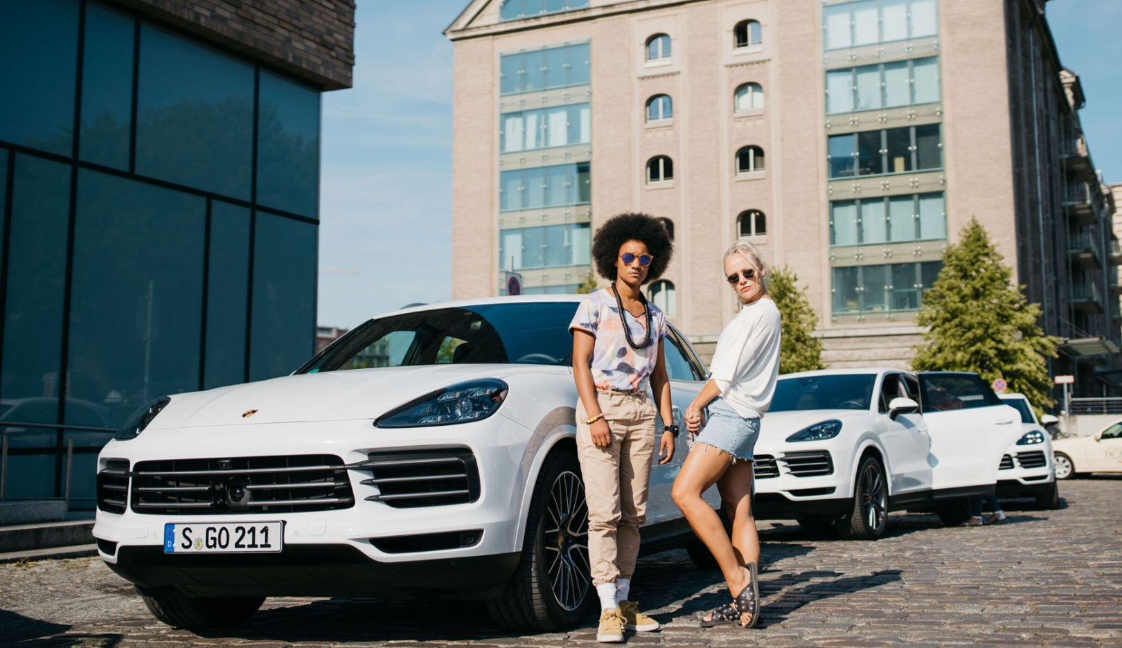 """Maike Mohr, Alice Martin, Dancehall crew """"Chefboss"""", Berlin, 2018, Porsche AG"""
