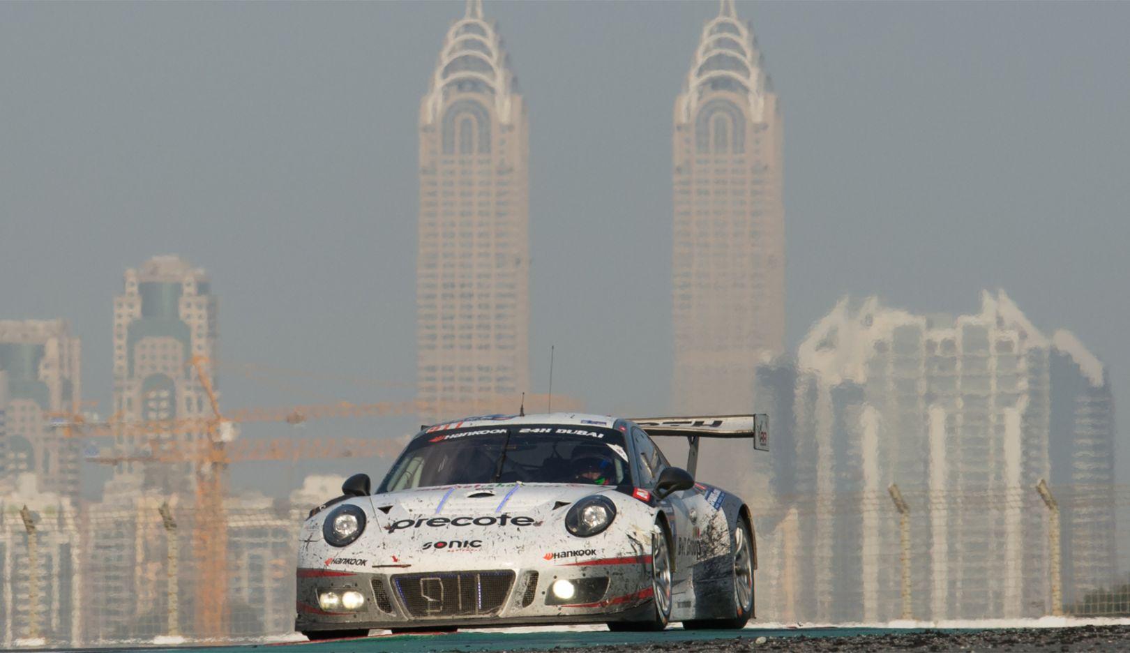 911 GT3 R, Herberth Motorsport, Intercontinental GT Sport, Dubai, 2017, Porsche AG