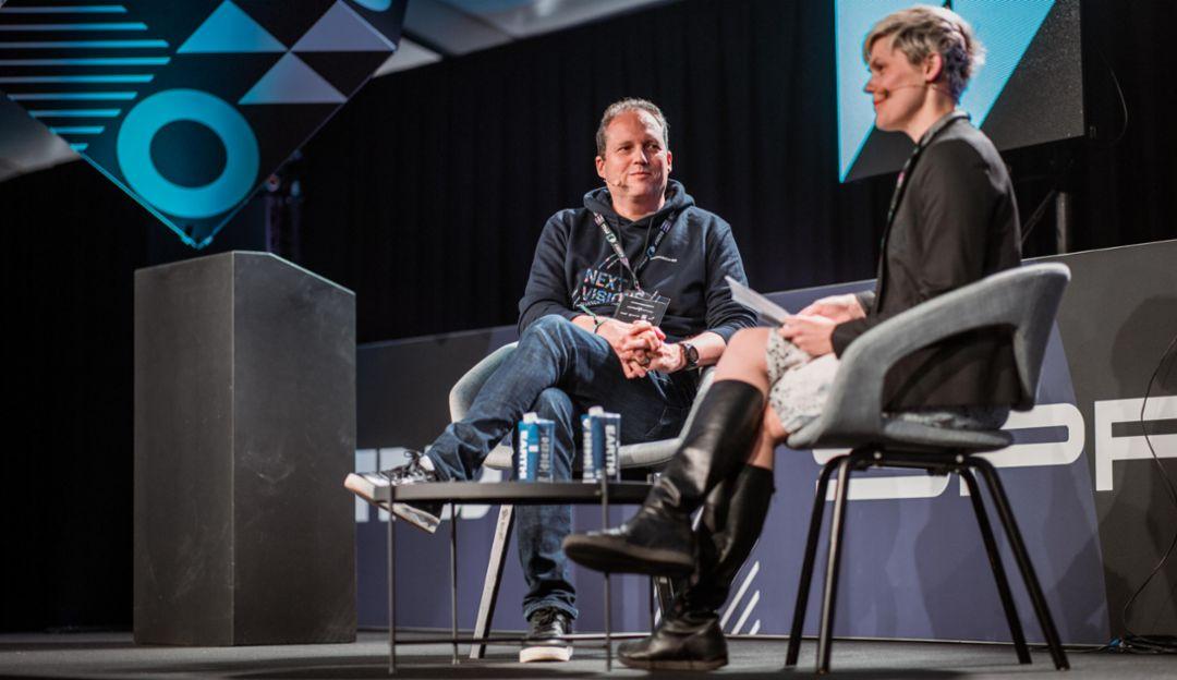 Stefan Zerweck, Porsche Digital COO, Katia Moskvitch, Wired UK, TNW 2019, Porsche AG