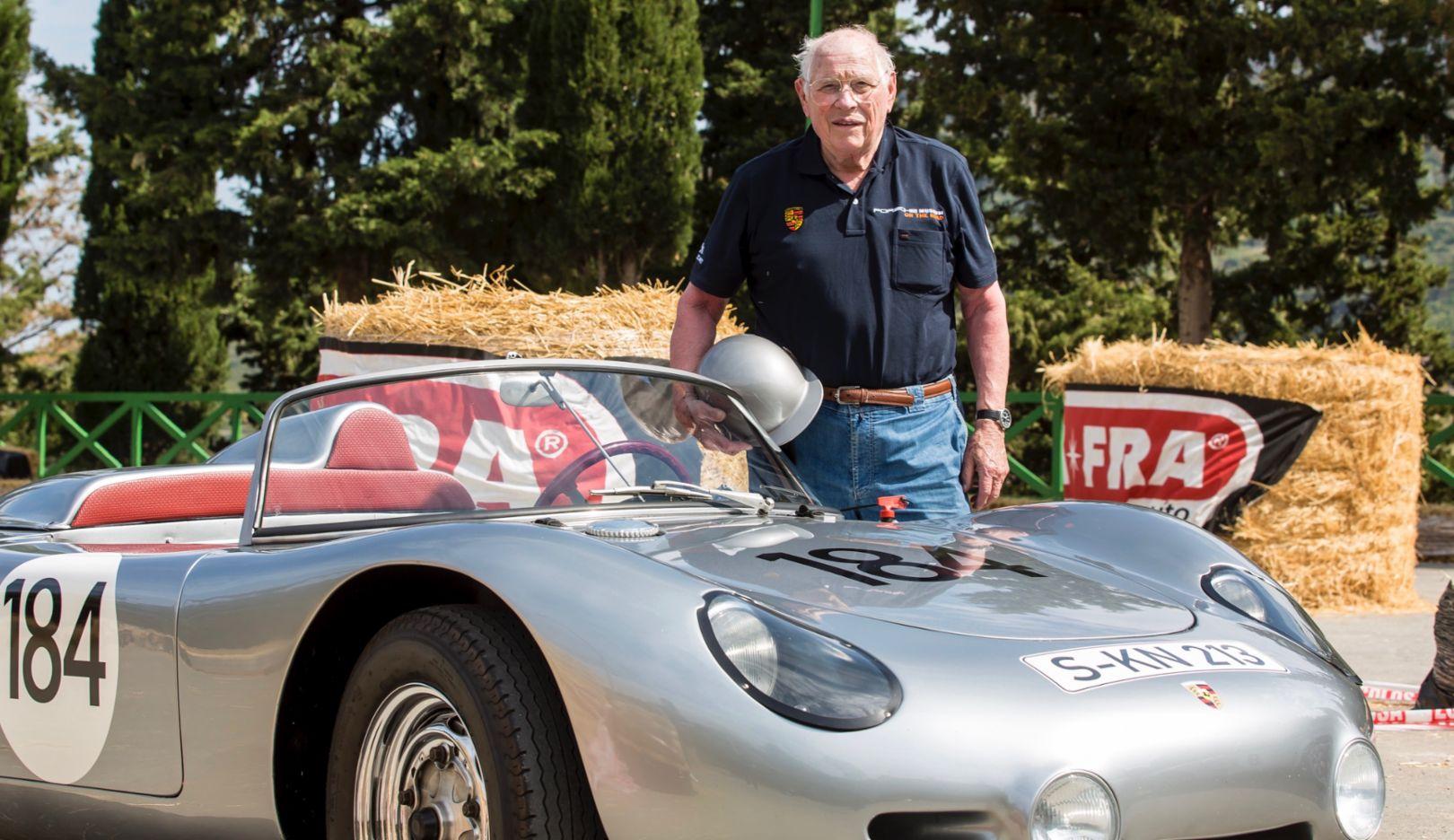 Herbert Linge, 718 RS 60 Spyder, Porsche Sound Nacht, 2017, Porsche AG