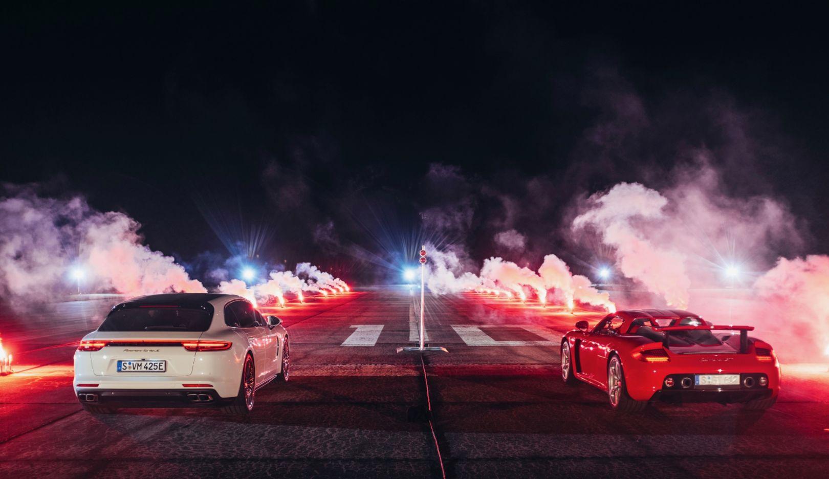 Panamera Turbo S E-Hybrid Sport Turismo, Carrera GT, l-r, 2018, Porsche AG