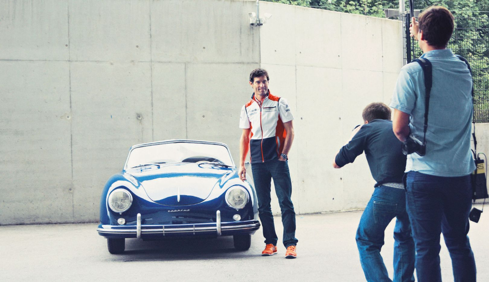 Mark Webber with his Porsche 356