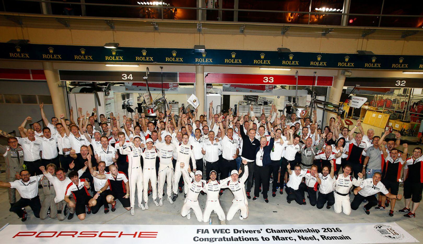 Porsche Team, WEC, Bahrain, 2016, Porsche AG