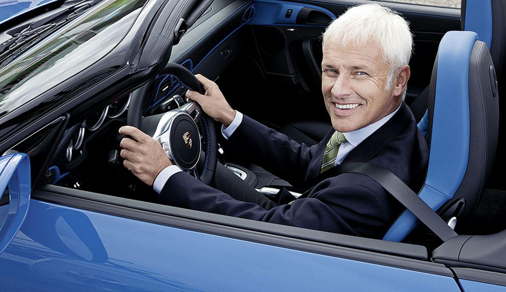 Matthias Mueller, CEO, 2014, Porsche AG