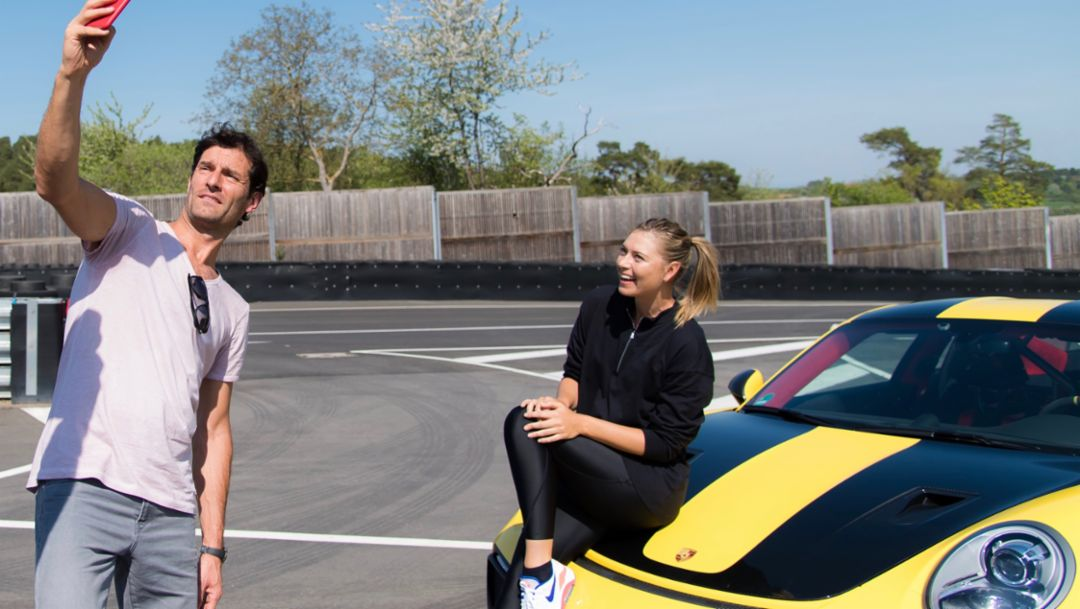 Mark Webber, Maria Sharapova, Porsche Brand Ambassadors, l-r, 911 GT2 RS, Weissach, 2018, Porsche AG