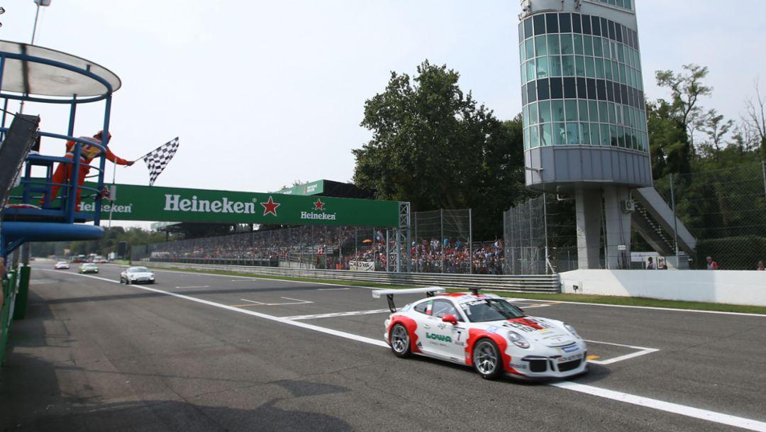 Fourth win for Porsche Junior Cairoli