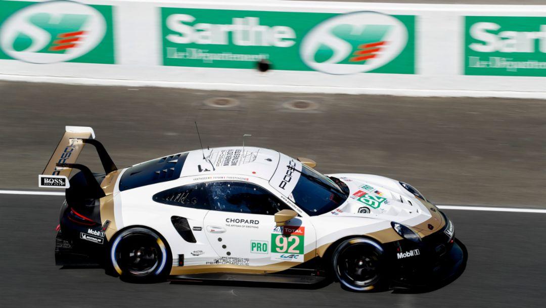 911 RSR, Porsche GT Team (92), pre-test for the 2019 Le Mans 24-hour race, 2019, Porsche AG
