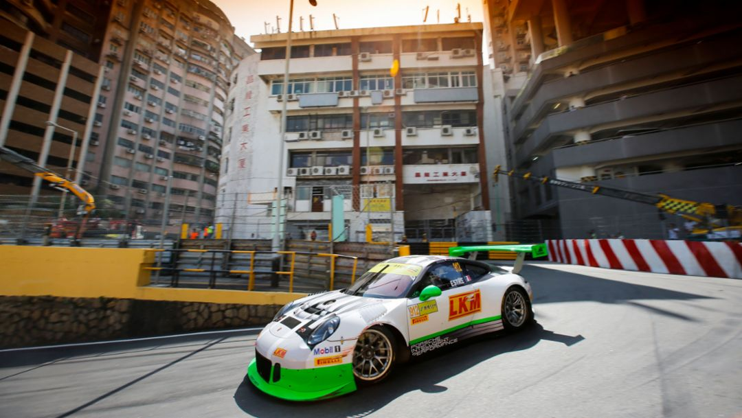 911 GT3 R, Qualifying, Team Manthey Racing, FIA GT World Cup, Macau/China, 2016, Porsche AG