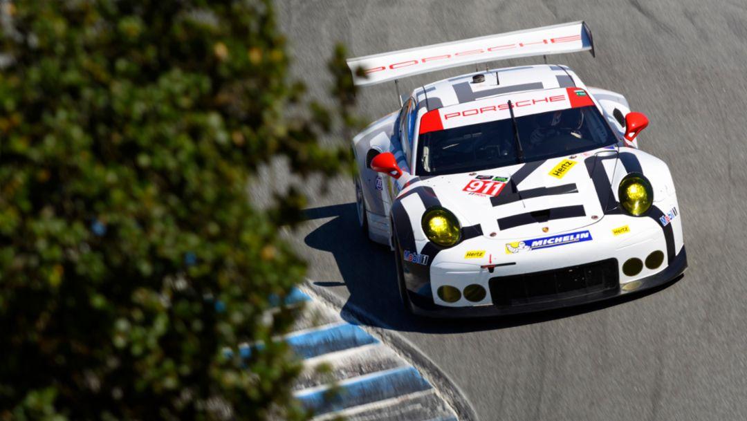 Sieg und Podium für Porsche in Laguna Seca