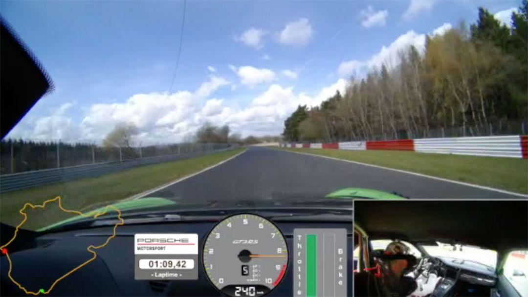 Onboard 911 GT3 RS, Nürburgring-Nordschleife, 2018, Porsche AG