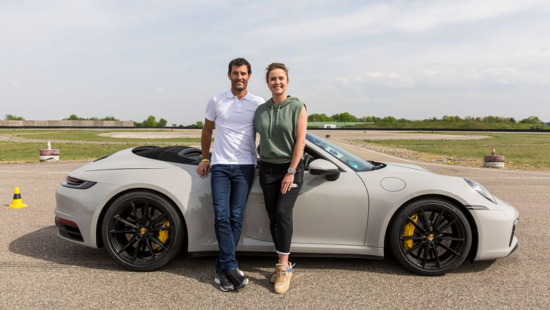 Driving master class in a Porsche 911 Cabriolet for Elina Svitolina