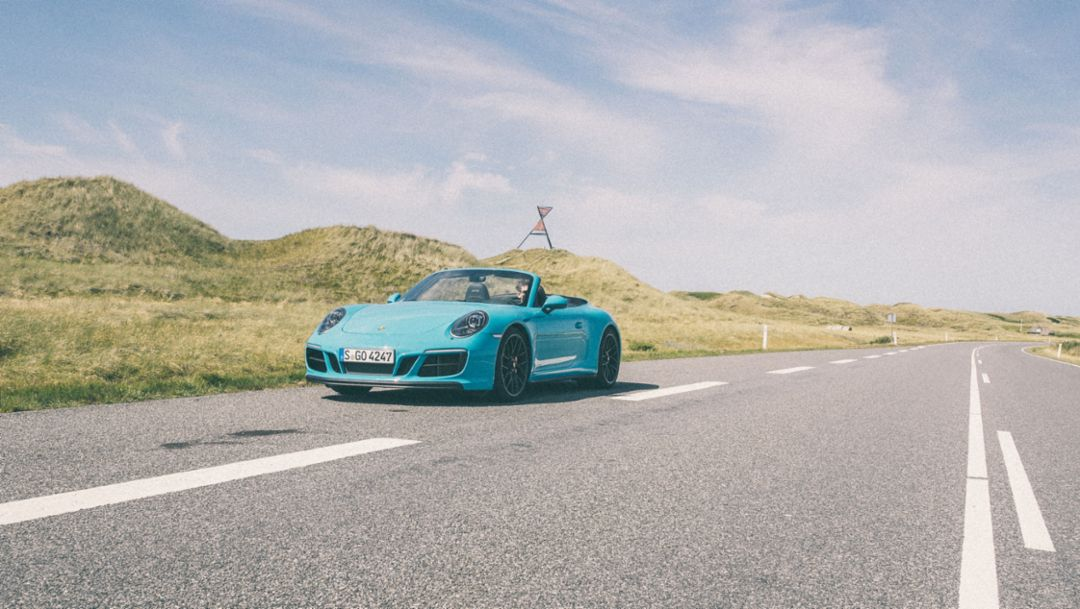 911 Carrera 4 GTS Cabriolet, Roadtrip of the Roserbrothers, Denmark, 2018, Porsche AG