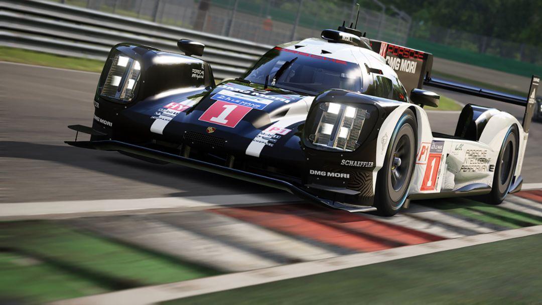 Virtual Porsche race