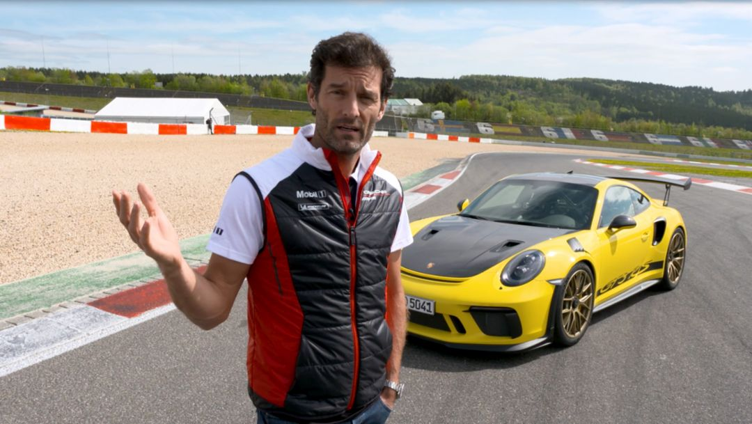 Mark Webber, 911 GT3 RS, 2018, Porsche AG