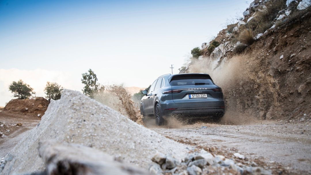 Cayenne S, press launch, Crete, 2017, Porsche AG