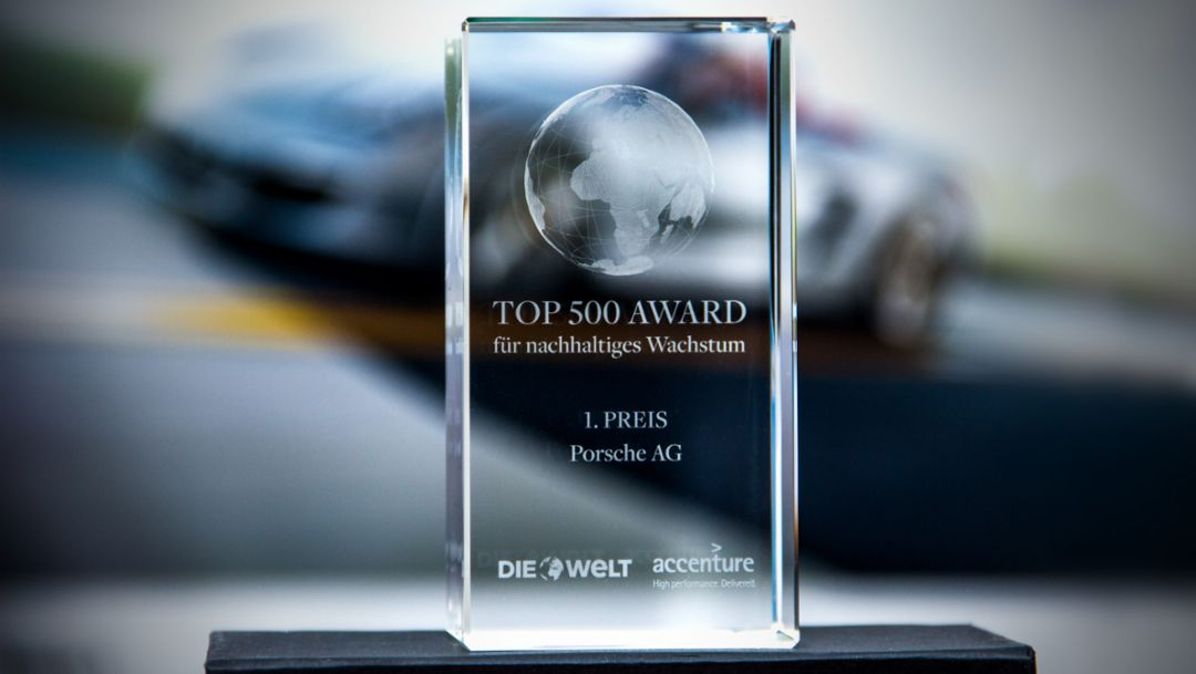 Porsche is honoured for sustainable growth