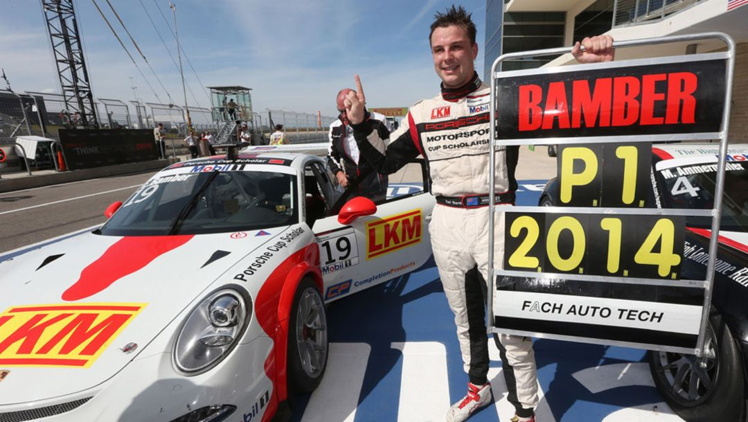 Earl Bamber is the new Porsche champion