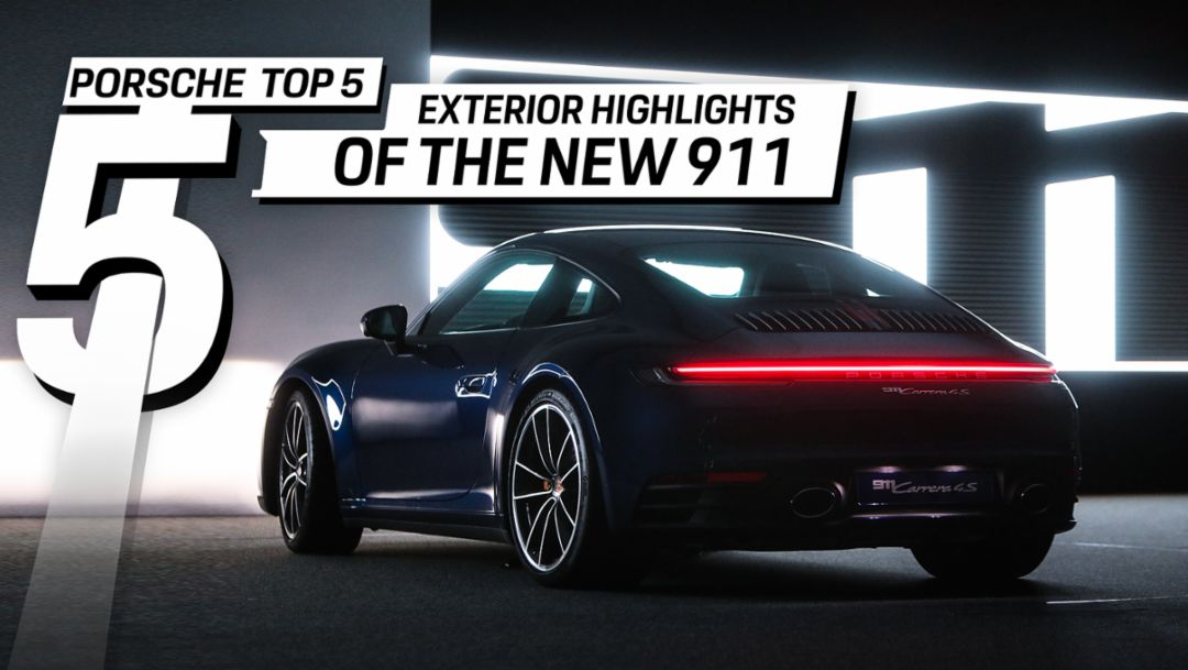 Porsche Top 5 Series: Exterior Highlights of the new 911