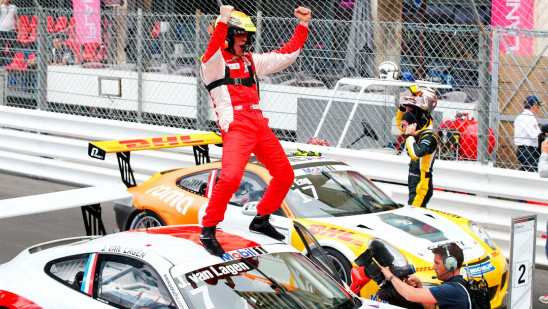 Maiden Monaco win for Jaap van Lagen