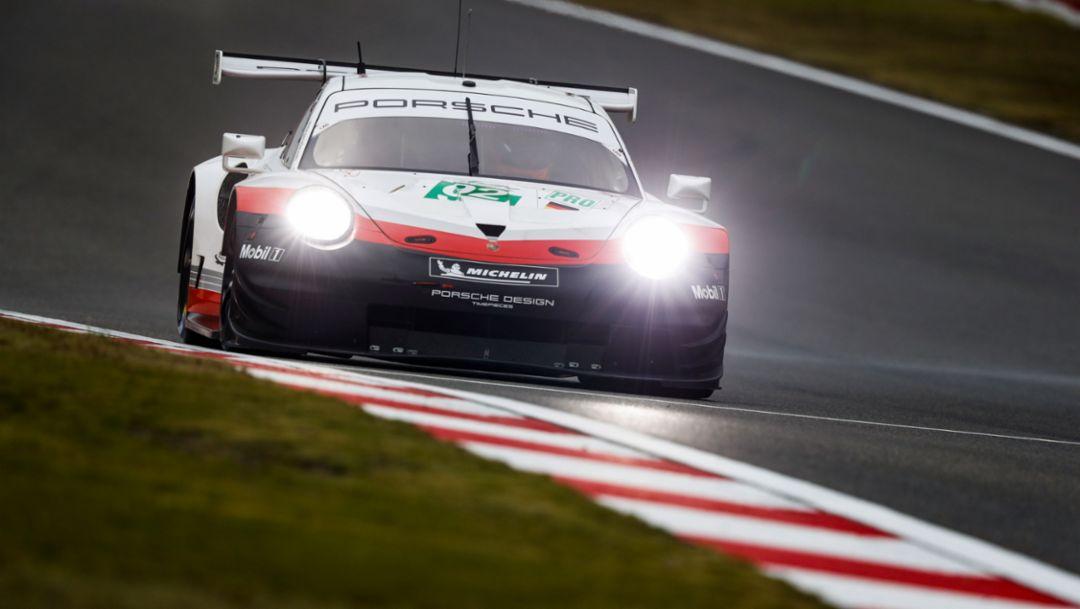 911 RSR, Porsche GT Team (92), freies Training, Lauf 5, FIA WEC, Shanghai, 2018, Porsche AG