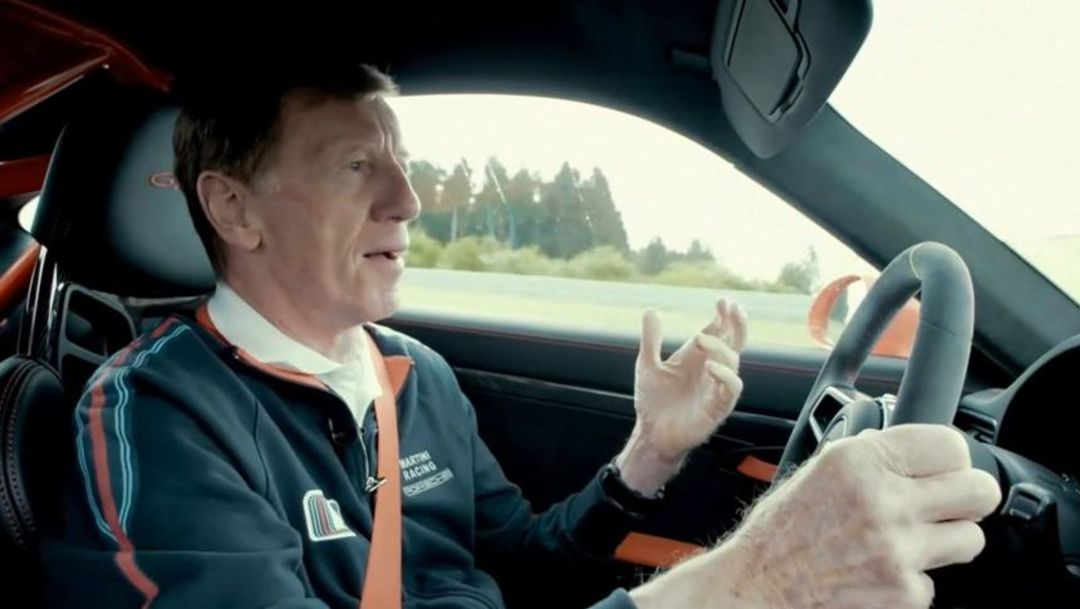 Walter Röhrl testing the new 911 GT3 RS