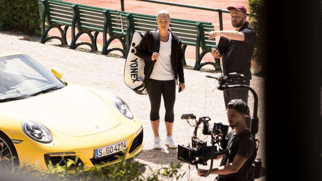 Angelique Kerber, Porsche-Markenbotschafterin, 911 Carrera 4S Cabriolet, 2016, Porsche AG