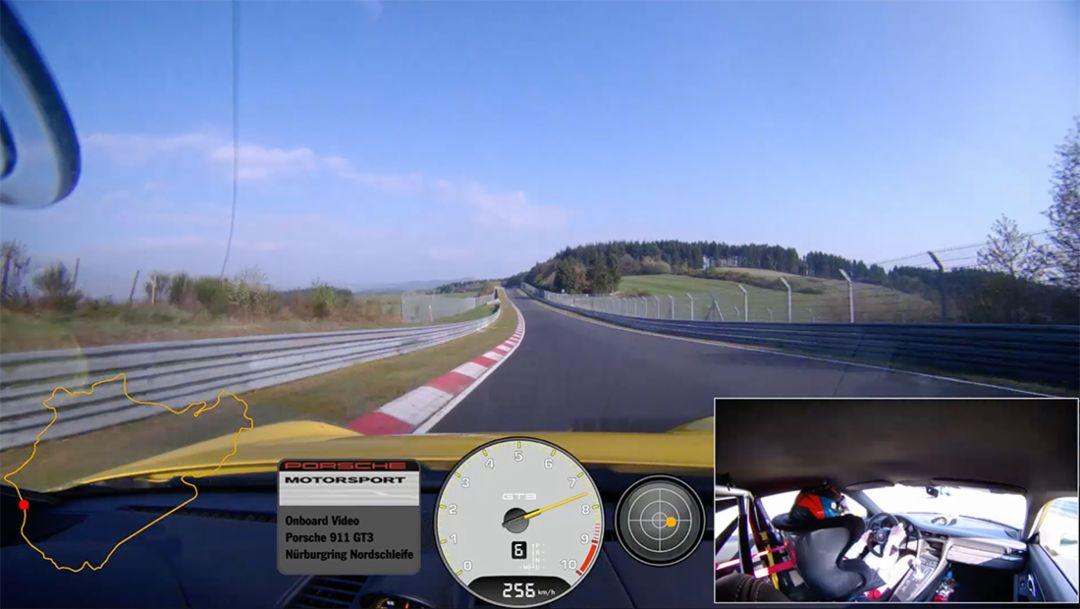 Onboard 911 GT3, Nürburgring, 2017, Porsche AG