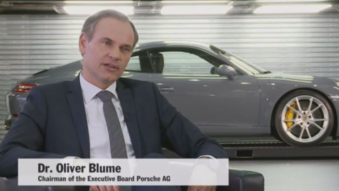 The Porsche CEO about the fiscal year 2015