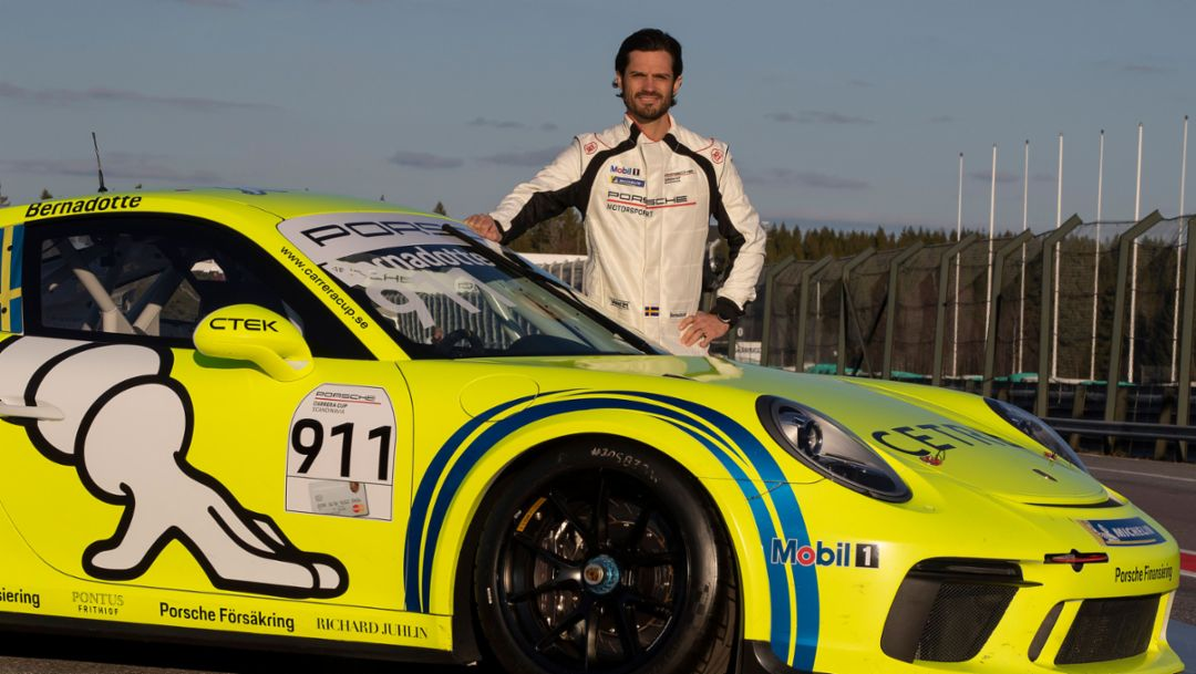 Prince Carl Philip of Sweden, 2019, Porsche AG