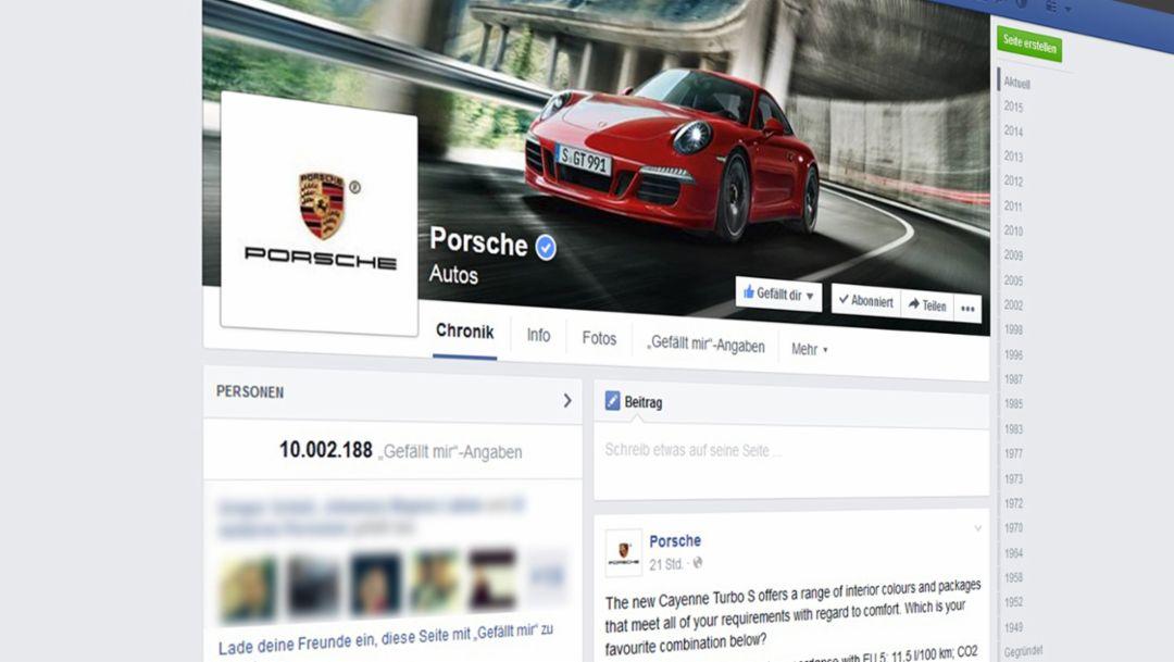 Ten million Facebook fans for Porsche