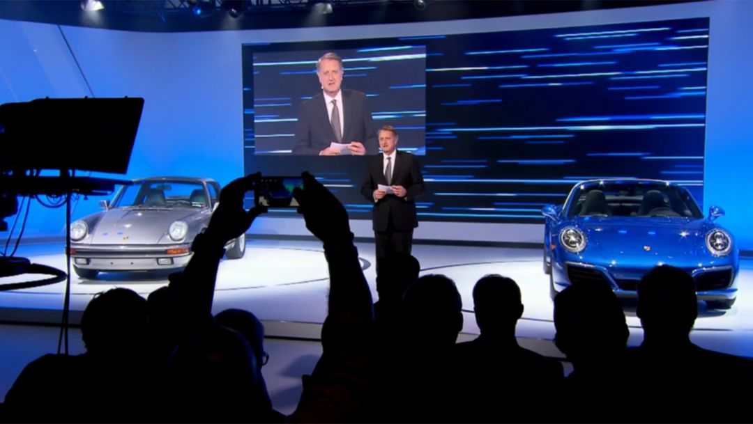 Los Angeles, Pressekonferenz, 2015, Porsche AG