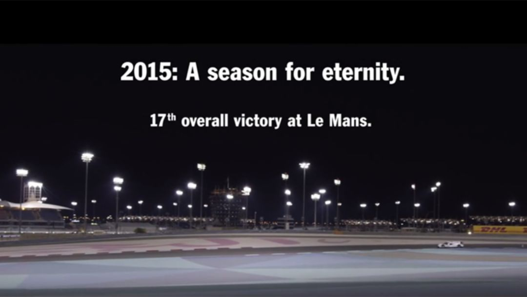2015: A season for eternity.