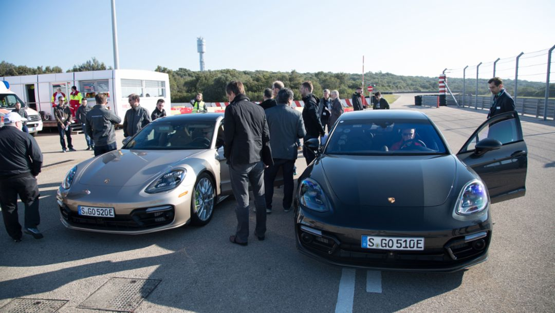 Press test drive, Panamera Turbo S E-Hybrid, Nardo, 2017, Porsche AG