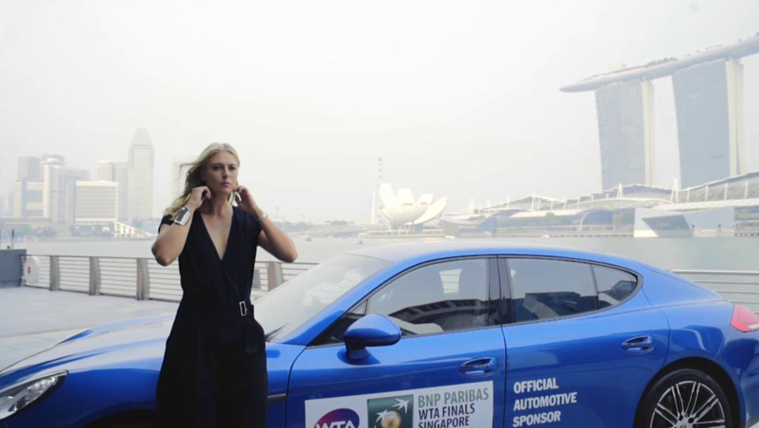 Sharapova: With Porsche at the WTA Finals