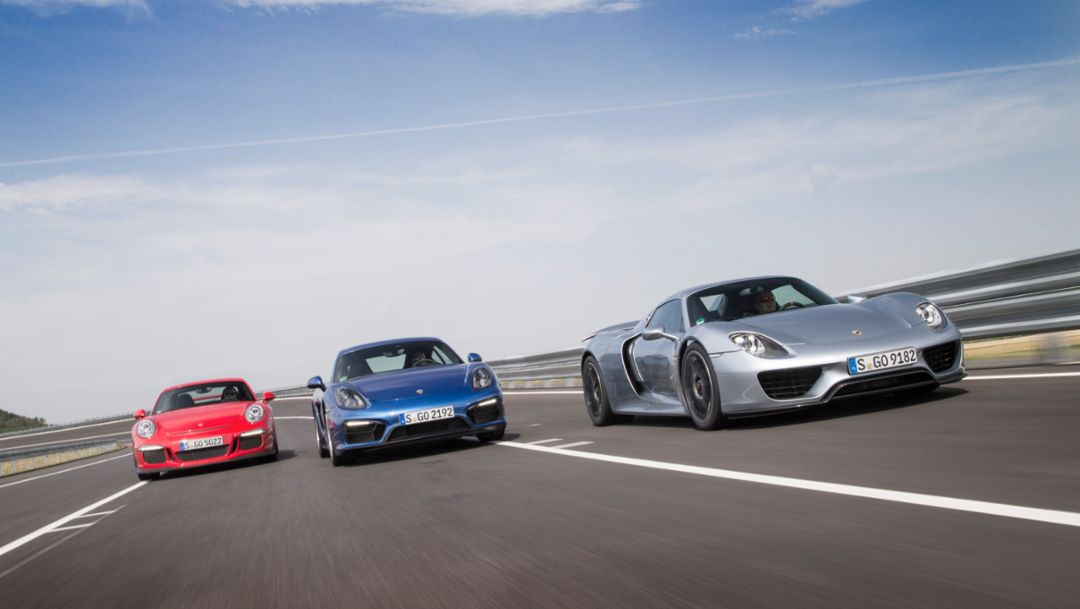 911 GT3, Cayman GTS, 918 Spyder, Aldenhoven, 2014, Porsche AG