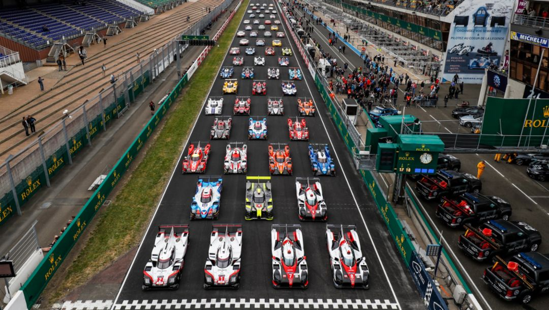 919 Hybrid, Testtag, Le Mans, 2017, Porsche AG