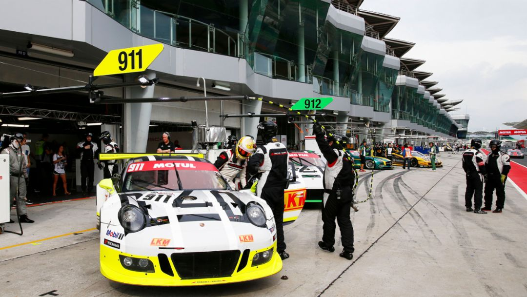 911 GT3 R, Team Manthey Racing, Intercontinental GT Challenge, Sepang, 2016, Porsche AG