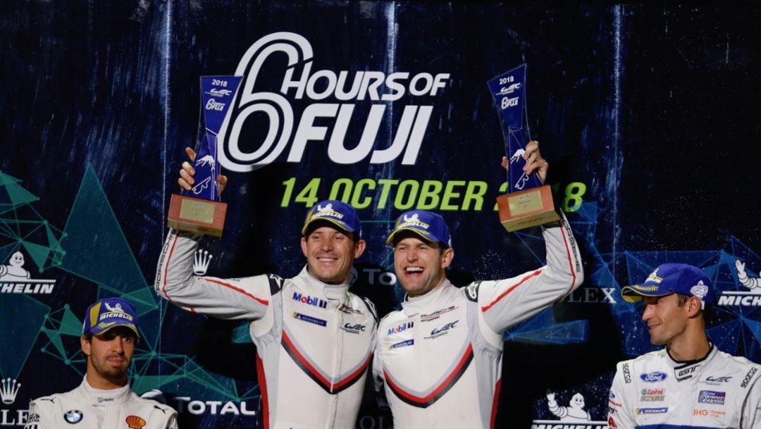 Porsche baut Führung in Weltmeisterschaft mit Sieg in Fuji weiter aus