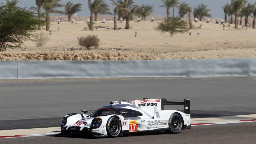 Porsche 919 Hybrid, LMP1 test, WEC Bahrain, 2015, Porsche AG