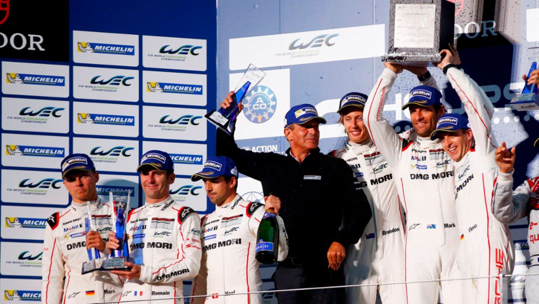 Two Porsche victories in Fuji